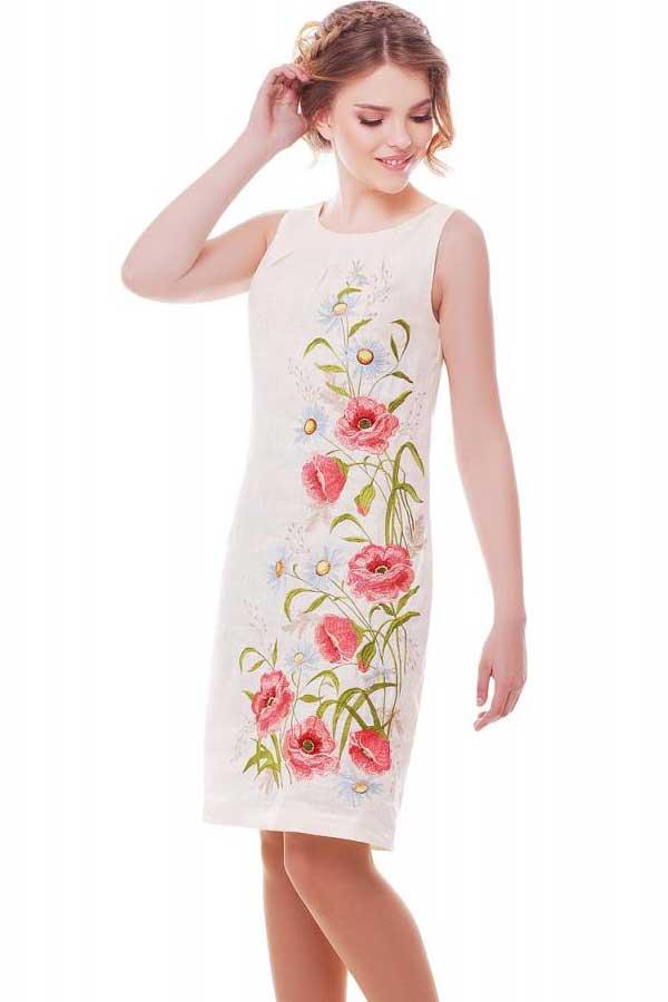 Платье Ромашковое Поле Молочное