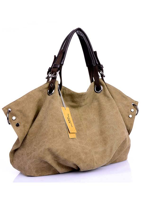 Жіноча полотняна сумка-месенджер